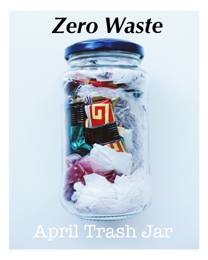 What's in my first 'Trash Jar' | April + May Trash Jars Review | Zero Waste | The Bloody Writer.